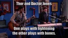 Footprints on the Moon - Thor and Doctor Jones - 9GAG