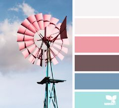 off-white, pink, blue, turquoise