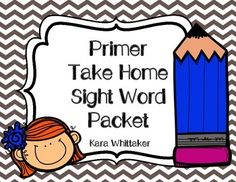 """Reinforce your students' sight word knowledge with this take home pre-primer sight word packet. Parents and students will have fun with these easy to play games and activities. All activities would also work well at a literacy center.   Activities in this packet are the same as those in my Pre-Primer Take Home Packet  Included in this packet are:  -Sight Word Packet Cover Page (with a space to write the student's name) -""""Fun Ways to Practice Sight Words"""" Idea page -Roll a Sight Word Game ..."""