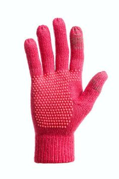 Touchscreen-compatible gloves - 10 Best CONDUCTIVE TIP KNIT GLOVES   from Freehands. The gloves are knitted with conductive silver thread running through the thumbs and index fingertips, so you can keep your hands warm while using your touchscreen device.    The more snug they are, the better; be sure to check out the size chart before ordering a pair (available in black or fuchsia).