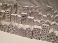 Pocket  City: miniature hand-sculpted ceramic buildings on Etsy, $28.00