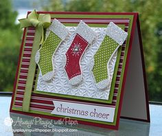 Stitched Stockings for Merry Monday by Lionsmane - Cards and Paper Crafts at Splitcoaststampers