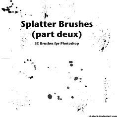Ink Splatter Paint 34 - Download  Photoshop brush http://www.123freebrushes.com/ink-splatter-paint-34/ , Published in #GrungeSplatter. More Free Grunge & Splatter Brushes, http://www.123freebrushes.com/free-brushes/grunge-splatter/ | #123freebrushes