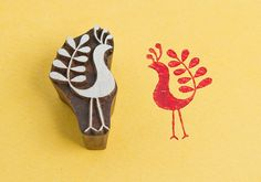 Hey, I found this really awesome Etsy listing at http://www.etsy.com/listing/174205864/pensive-peahen-wood-block-stamp