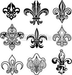 various fleur de lis designs