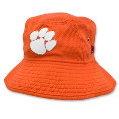 17b27e115908c  Clemson  Tigers New Era Team Bucket Hat - Orange Clemson Hat