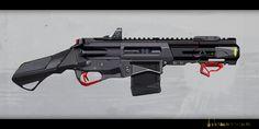 SCR Pistol design, Maxim Rakov on ArtStation at https://www.artstation.com/artwork/9d2zN