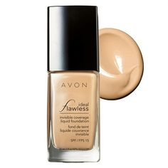 Ideal Flawless Invisible Coverage Liquid Foundation Personal opinion is it does as it says on the bottle. You can buy your own at www.avon.uk.com/store/s4min4 OH AND BEFORE I FORGET IT'S 2 FOR £12 ON SELECTED FACE MAKEUP PRODUCTS.  WHAT YOU WAITING FOR GET SHOPPING....