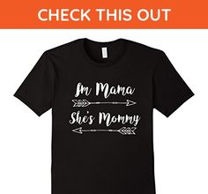 Mens Im Mom Shes Mommy Lesbian LGBT Mothers Shirt Large Black - Relatives and family shirts (*Amazon Partner-Link)