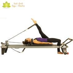 hamstring stretch pilates reformer exercise 3