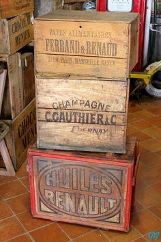 Antique Vintage Wood boxes  http://marinette-vintage.blogspot.fr/