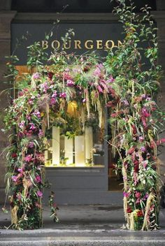 Flower Shop (by Catherine Muller) Arco Floral, Floral Arch, Flower Shop Design, Floral Design, Decoration Entree, Flower Installation, Festa Party, Flower Market, Flower Wall