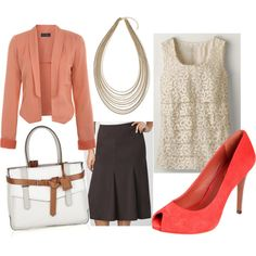 Coral and Brown for Spring