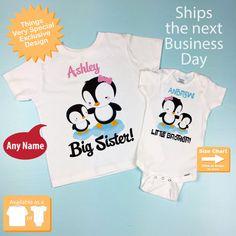Sibling Set Tee SisterBrother set or Bib Applique Shirt Onesie