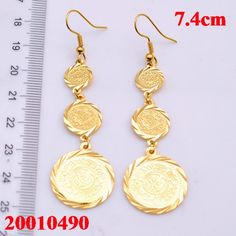 golden plated islamic allah earrings,arabic jewelry gift 18k Gold Jewelry, Coin Jewelry, Antique Jewelry, Jewelry Gifts, Gold Coin Necklace, Gold Earrings, Drop Earrings, Arabic Jewelry, Gifts For Women