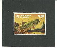 1981 Wisconsin Trout Stamp