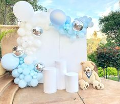 Unique Baby Shower Cakes, Boy Baby Shower Themes, Baby Shower Gender Reveal, Baby Boy Shower, Baby Shower Backdrop, Baby Shower Balloons, Mesas Para Baby Shower, Teddy Bear Baby Shower, Bear Theme