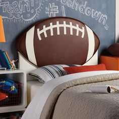 Twin size Football Headboard - perfect for your little football fanatic!