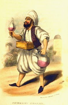 Sherbet (Sorbet) Seller in Syria, 1838 (Şam'da Sultan Ottoman, Ground Orchids, Turkish Art, Ottoman Empire, Historical Pictures, 15th Century, Historical Clothing, Art And Architecture, Persian