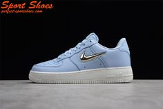 36a80b7a581f Original Nike Air Force 1 Low Blue Silver Men And Women Size