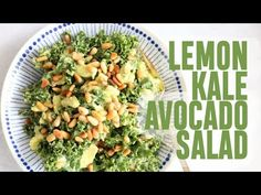 The best kale salad ever!! The avocado, lemon, and pine nuts add such a nice touch and it's so easy! I'm telling you, this is your new favorite salad!