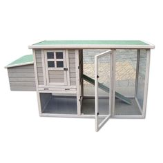 "Precision+Pet+Hen+House+Chicken+Coop+in+Taupe+&+Off-White+-+78"";+L+X+30"";+W+X+41"";+H,+Roomy+interior+provides+a+safe+secure+habitat+for+up+to+four+chickens.+Complete+home+includes+coop,+ramp,+nesting+area+and+easy-clean+floor+pan.+Also+features+roosting+bar+and+ground+level+foraging+area. - https://www.petco.com/shop/en/petcostore/product/precision-pet-hen-house-chicken-coop-in-taupe-and-off-white"