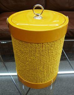 Mid Century Ice Bucket Yellow