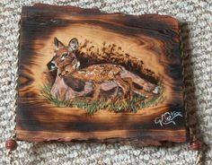 Doe and Fawn Wall Plaque by CorteseCreations on Etsy