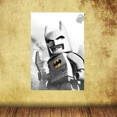 13x19 Batman Reusable Canvas Peel and Stick Poster Wall Decal Wall Decor Poster Sticker Print Art. $14.99, via Etsy.