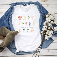 """The grass withers, the flower fades, but the word of our God will stand forever. Fabric Weights, Grass, Cotton Fabric, Autumn Fashion, God, Flower, My Style, T Shirt, Dios"