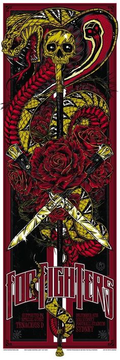 Foo Fighters Posters by Ken Taylor and Rhys Cooper