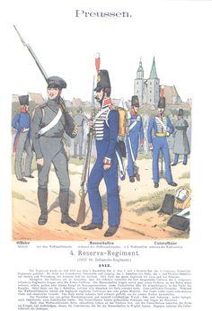 Vol 01 - Pl 24 - Preußen. 4. Reserve-Infanterie-Regiment. 1813.