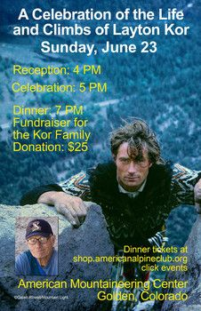 Layton Kor memorial celebration and fundraiser this weekend