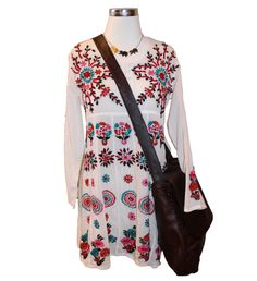 Spring has Sprung - Raj Lotus dress, Ornamental Things necklace, Raj Lotus messenger #Spring14 #bohochic