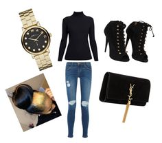 """""""Just Being Me"""" by briannarudley1 ❤ liked on Polyvore featuring Rumour London, Current/Elliott, Giuseppe Zanotti, Yves Saint Laurent, Marc by Marc Jacobs and Identity"""