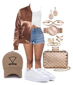 """""""Untitled #1946"""" by mrkr-lawson ❤ liked on Polyvore featuring Topshop, Tevolio, adidas, BERRICLE, Michael Kors and Kevin Jewelers"""