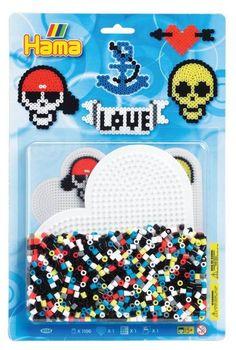 Kit perles et plaques MiDi - Tête de mort - Hama 4088
