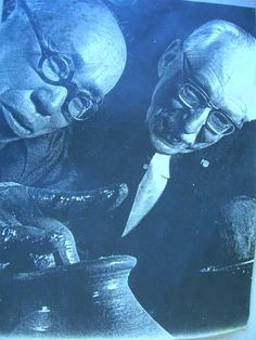 "Another Pinner wrote, ""Shoji Hamada and Bernard Leach. I posted this image near my wheel throughout grad school so that I felt these two forefathers of studio pottery were looking over my shoulder at all times."""