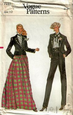 6ca251e75b 1970s Vogue 7227 Vintage Sewing Pattern Misses Evening Full Skirt