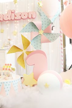 Madison Sweet Lullaby First birthday Party Dumbo Birthday Party, Candy Theme Birthday Party, Birthday Party Tables, Birthday Party For Teens, Birthday Backdrop, Carnival Birthday Parties, 1st Birthday Girls, Birthday Party Decorations, Diy Party Needs