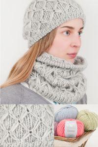 Completo in lana a punto fantasia Spiegazioni in Italiano