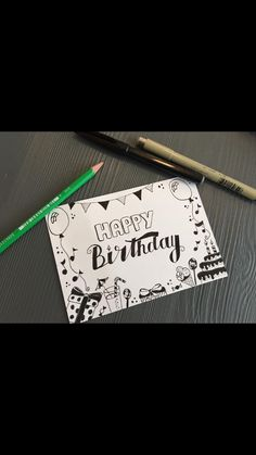 Most current Absolutely Free creative Birthday Invitations Thoughts Do you know . Most current Absolutely Free creative Birthday Invitations Thoughts Do you know that you'll find Creative Birthday Cards, Diy Birthday Invitations, Beautiful Birthday Cards, Cute Birthday Gift, Friend Birthday Gifts, Handmade Birthday Cards, Happy Birthday Cards, Lettering Tutorial, Hand Lettering