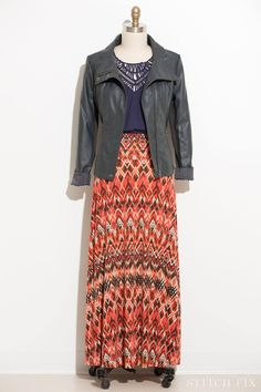 From a Stitch Fix FB post.  Love the jacket with the skirt.  And the top as well.