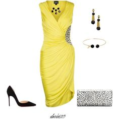 Untitled #989 by doris610 on Polyvore featuring Just Cavalli, Christian Louboutin, Yves Saint Laurent, Marni, Nadine S and Kenneth Jay Lane