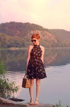 Summer Fashion: Cute pixie summer look plus her dress.
