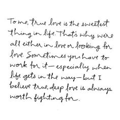 love is the sweetest thing in life
