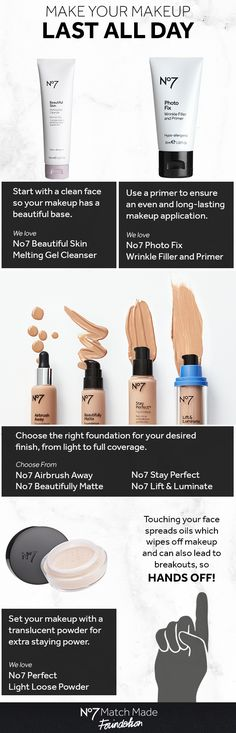 Ready, set, stay! Get more from your makeup with these quick No7 beauty tips for the ultimate staying power. #No7MatchMade