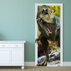 Only US$25.99 , shop 88X200CM PAG Imitative Door 3D Wall Sticker Fiery Dragon Tyrannosaurus Dinosaur Wall Decor Gift at Banggood.com. Buy fashion Wall Stickers online.
