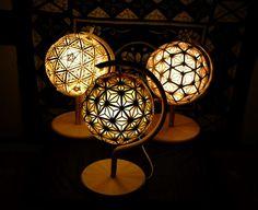 Mood Light, Lamp Light, Japanese Lighting, Bamboo Art, Gourd Lamp, Japanese Modern, Wood Lamps, 3d Prints, Unique Lamps
