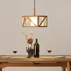 """17.7""""Wide Round Drum Caged and Inner Glass Shaded Large Pendant Light"""